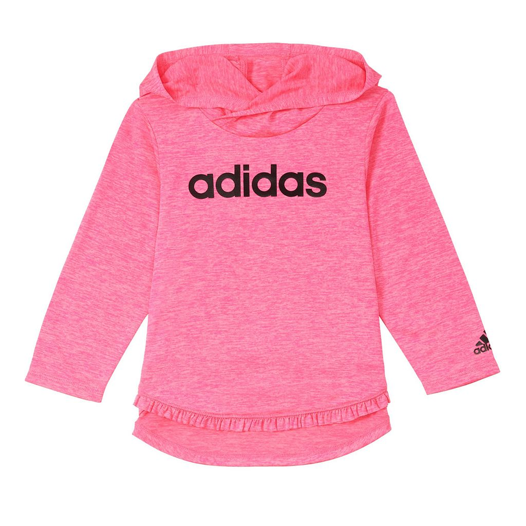 Baby Girl adidas Hooded Tee & Melange Stripe Leggings Set