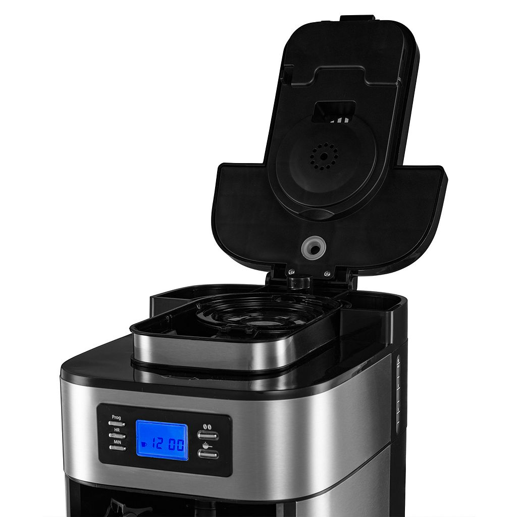 Gourmia 10-Cup Coffee Maker with Built-In Grinder