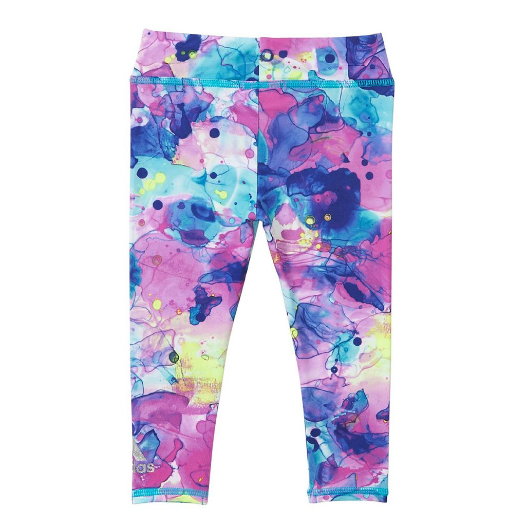 Baby Girl adidas Tee & Ink Camouflage Leggings Set