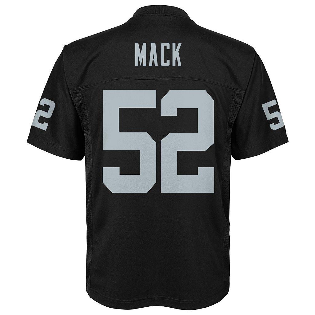 Boys 8-20 Oakland Raiders Khalil Mack Replica Jersey