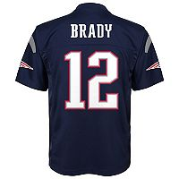 Boys 8-20 New England Patriots Tom Brady Replica Jersey
