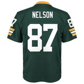 Boys 8-20 Green Bay Packers Jordy Nelson Replica Jersey