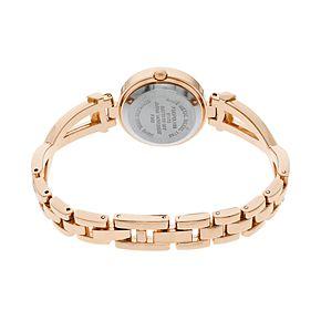Folio Women's Crystal Crisscross Half-Bangle Watch & Bracelet Set