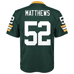 Boys 8-20 Green Bay Packers Clay Matthews Replica Jersey