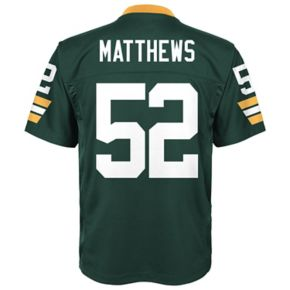 Boys 8-20 Green Bay Packers Clay Matthews Replica Jersey