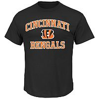 Big & Tall Majestic Cincinnati Bengals Heart and Soul II Tee