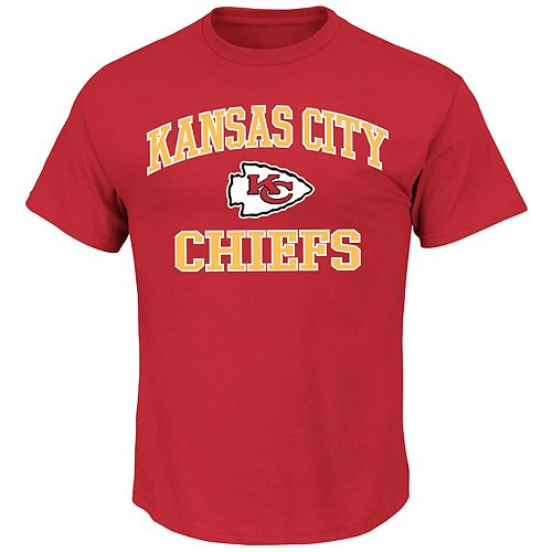 Big & Tall Majestic Kansas City Chiefs Heart and Soul II Tee
