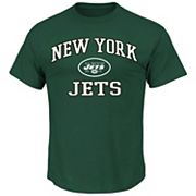 Big & Tall Majestic New York Jets Heart and Soul II Tee