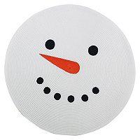 St. Nicholas Square® Round Snowman Placemat