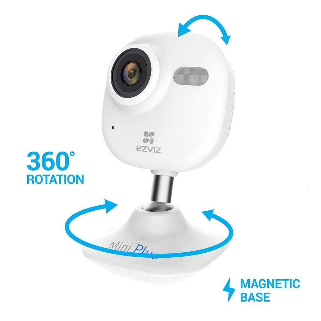 EZVIZ Mini Plus 1080p Indoor WiFi Camera with 16GB MicroSD Card