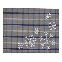 St. Nicholas Square® Snowflake Plaid Placemat
