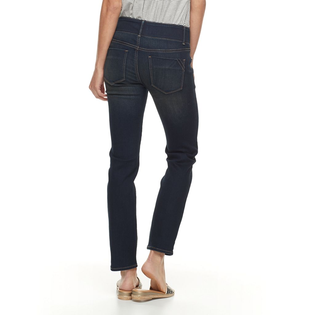 Petite Apt. 9® Modern Fit Comfort Waistband Straight-Leg Jeans