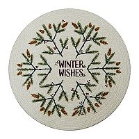 St. Nicholas Square® Round Winter Wishes Placemat