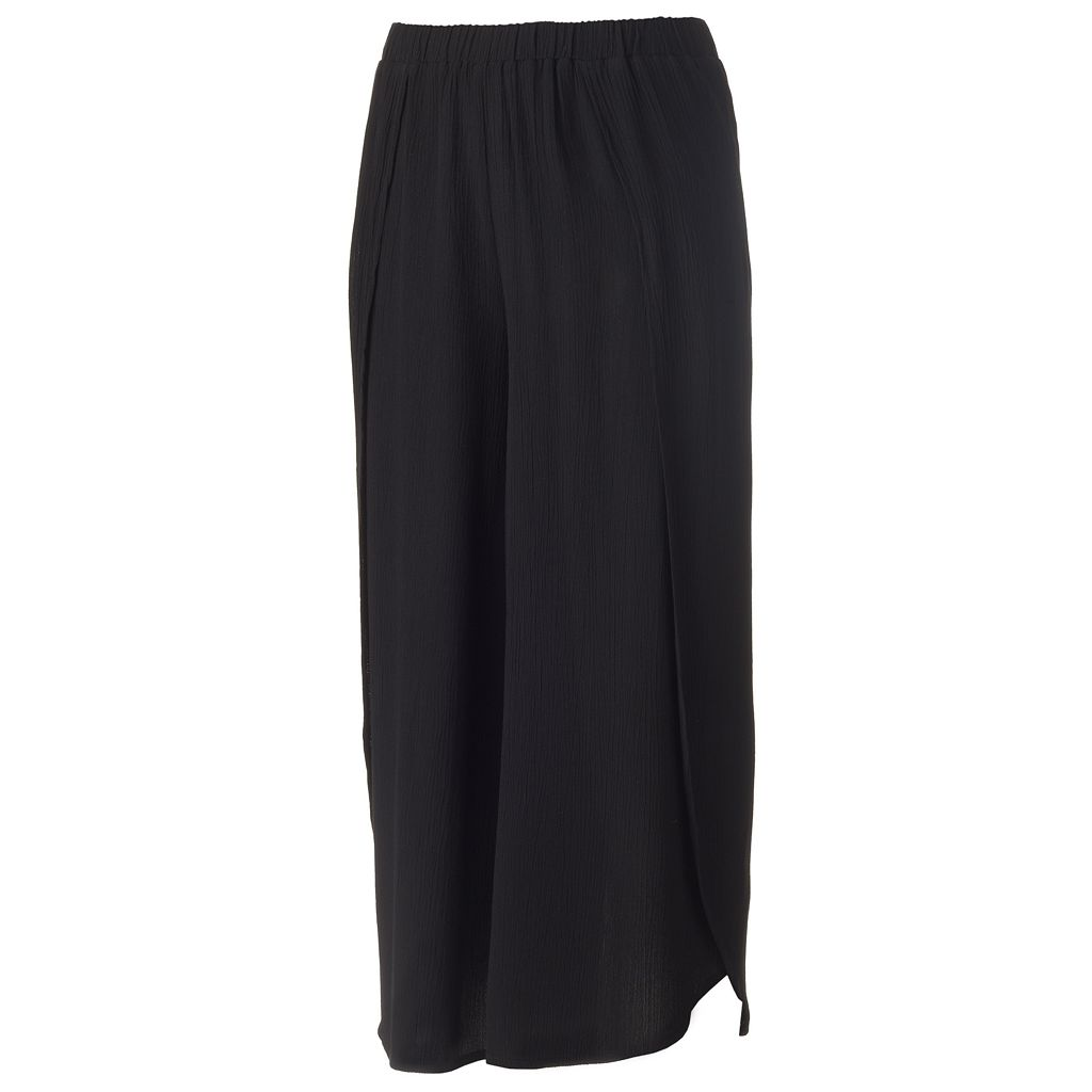Juniors' Joe B Black Gauze Culottes