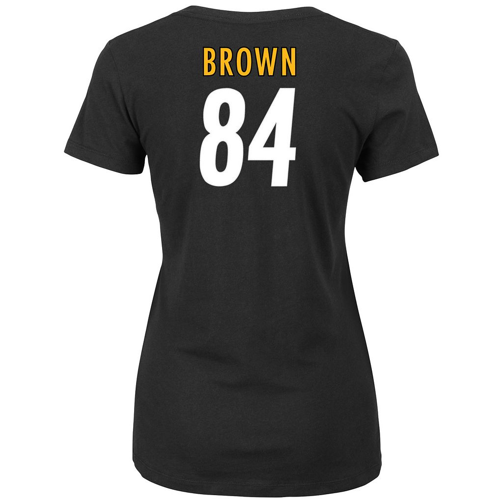 Plus Size Majestic Pittsburgh Steelers Antonio Brown Name and Number Tee