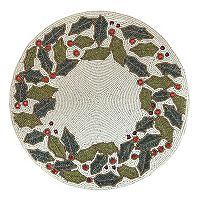 St. Nicholas Square® Beaded Holly Placemat