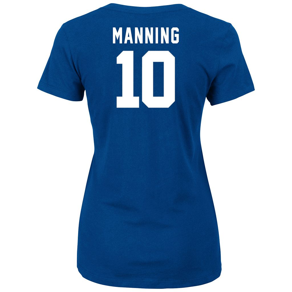 Plus Size Majestic New York Giants Eli Manning Name and Number Tee