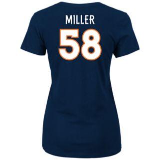 Plus Size Majestic Denver Broncos Von Miller Name and Number Tee