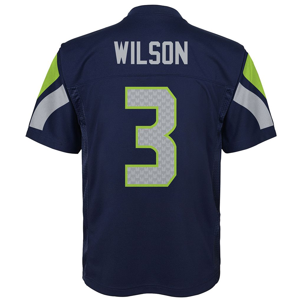 Boys 8-20 Seattle Seahawks Russell Wilson Replica Jersey