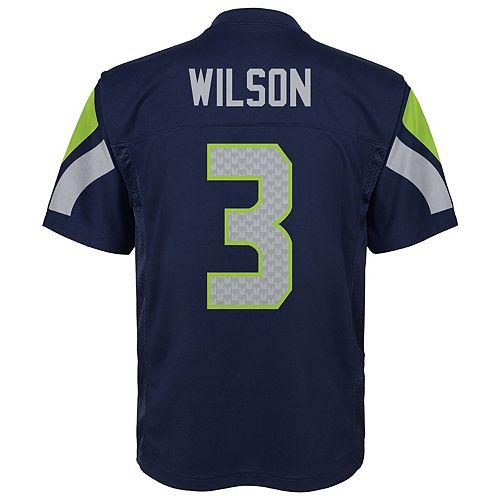 Boys 8-20 Seattle Seahawks Russell Wilson Replica Jersey