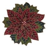 St. Nicholas Square® Beaded Poinsettia Placemat