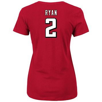 Plus Size Majestic Atlanta Falcons Matt Ryan Name and Number Tee