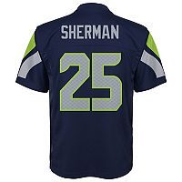 Boys 8-20 Seattle Seahawks Richard Sherman Replica Jersey
