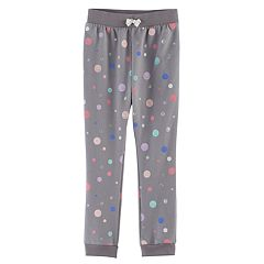Girls 4-10 Jumping Beans® Spot Fleece Jogger Pants