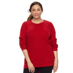 Plus Size SONOMA Goods for Life™ Pointelle Crewneck Sweater
