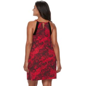 Plus Size Apt. 9® Must-Have Chemise: Red Floral Chemise