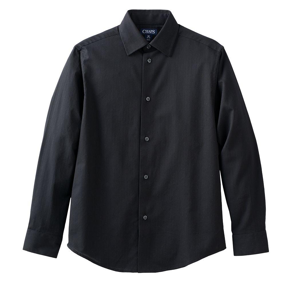 Boys 4-20 Chaps Herringbone Button-Down Shirt