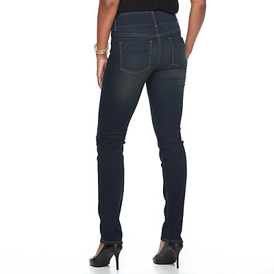 Women's Apt. 9 Tummy Control Midrise Straight-Leg Jeans