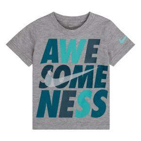 """Toddler Boy Nike """"Awe-Some-Ness"""" Logo Graphic Tee"""