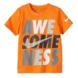 "Toddler Boy Nike ""Awe-Some-Ness"" Logo Graphic Tee"