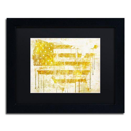 Trademark Fine Art American Dream I Black Framed Wall Art