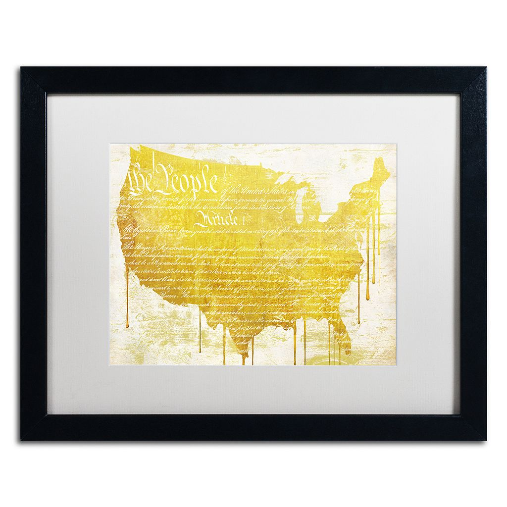 Trademark Fine Art American Dream II Black Framed Wall Art