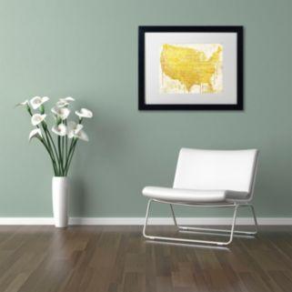 Trademark Fine Art American Dream II Black Framed Wall Art