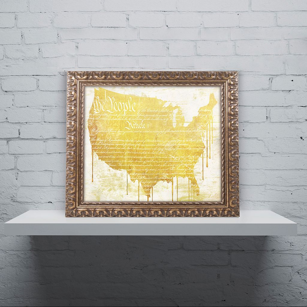 Trademark Fine Art American Dream II Ornate Framed Wall Art