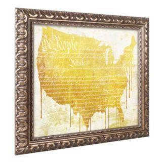 Trademark Fine Art American Dream II Ornate Framed Wall Art