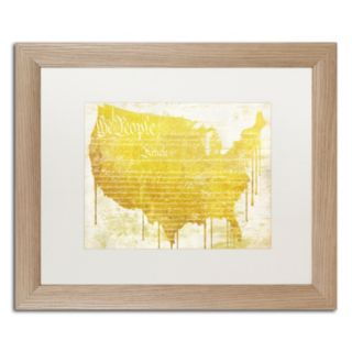 Trademark Fine Art American Dream II Distressed Framed Wall Art