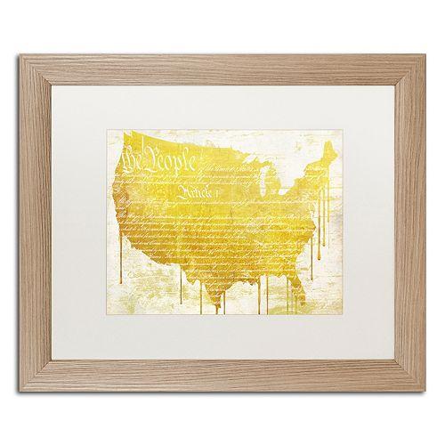 Trademark Fine Art American Dream II Distressed Framed Wall Art