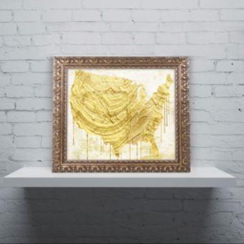 Trademark Fine Art American Dream III Ornate Framed Wall Art