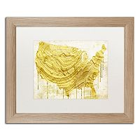 Trademark Fine Art American Dream III Distressed Framed Wall Art