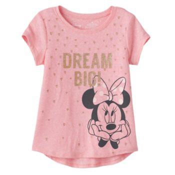 "Disney's Minnie Mouse Girls 4-10 ""Dream Big"" Shirttail Tee"