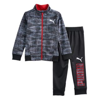 Boys 4-7 PUMA 2-pc. Zip Track Abstract Jacket & Pants Set
