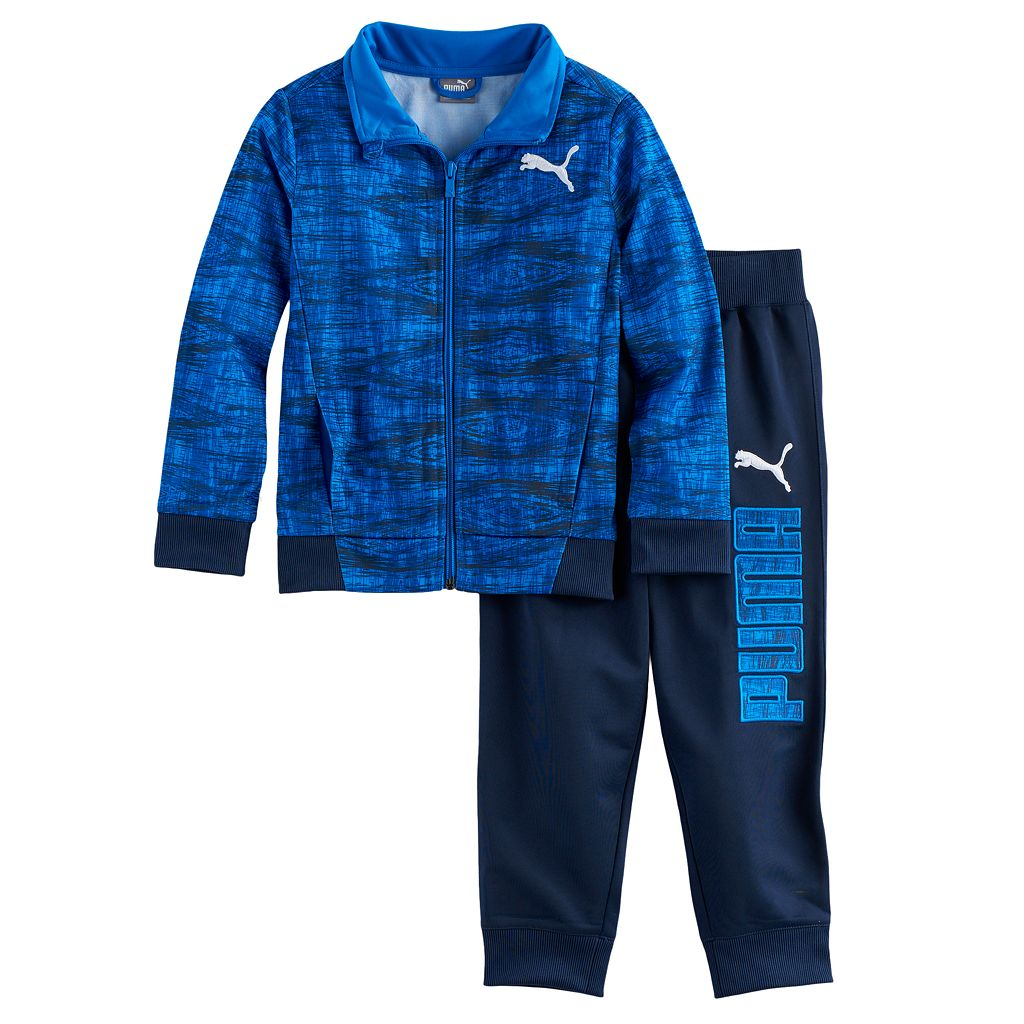 Boys 4-7 PUMA 2-pc. Zip Track Abstract Jacket & Pants Set