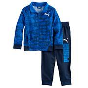 Boys 4-7 PUMA 2 pc Zip Track Abstract Jacket & Pants Set