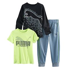 Boys 4-7 PUMA Logo Graphic Tees & Jogger Pants Set