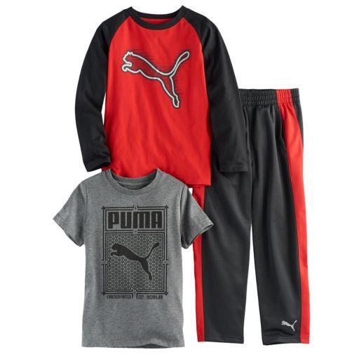 Boys 4-7 PUMA 3-pc. Graphic Tee & Pants Set