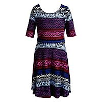 Girls 7-16 & Plus Size Emily West Chevron & Doodle Reversible Dress